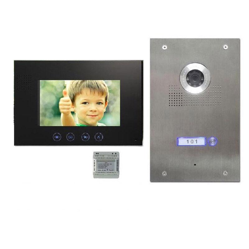 7 zoll monitor t rsprechanlage gegensprechanlage t rklingel video bildspeicher mathfel. Black Bedroom Furniture Sets. Home Design Ideas