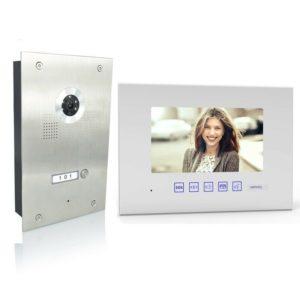 4 Draht Türsprechanlage mit einem Monitor und 170 Grad Kamera