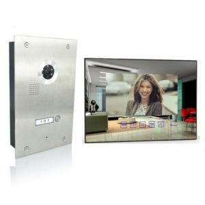 4 Draht Türsprechanlage mit einem Spiegelmonitor und 170 Grad Kamera