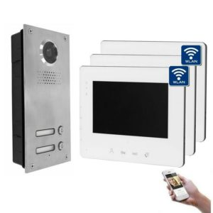 2-Draht IP WLAN und 3 Monitore