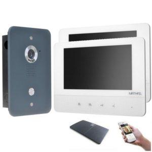 4drahr Sprechanlage mit WLAN 2 Monitore