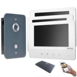 4drahr Sprechanlage mit WLAN 3 Monitore