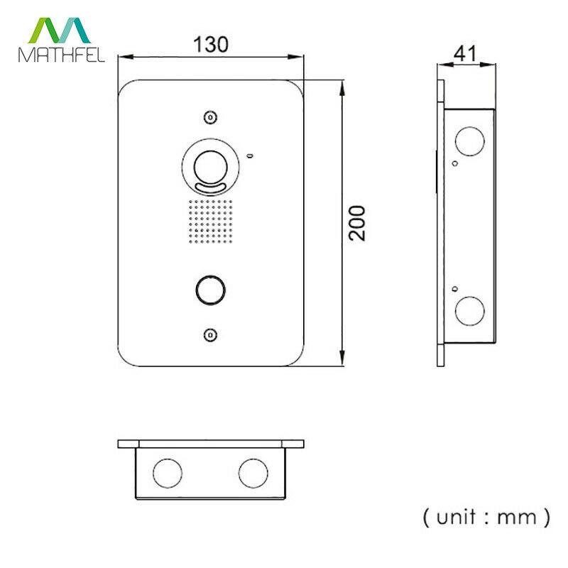 4 Draht Türsprechanlage Gegensprechanlage mit 7/'/' Monitor